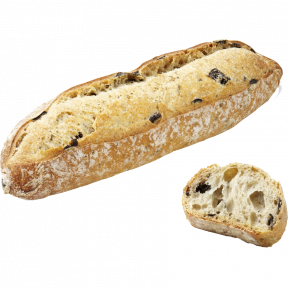 Булочка длинная с маслинами и тмином Bridor Франция, 50гр