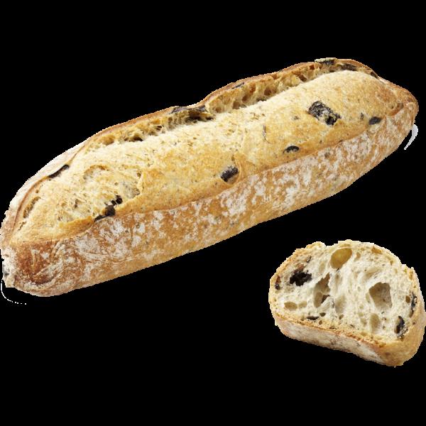 Булочка длинная с маслинами и тмином Bridor Франция