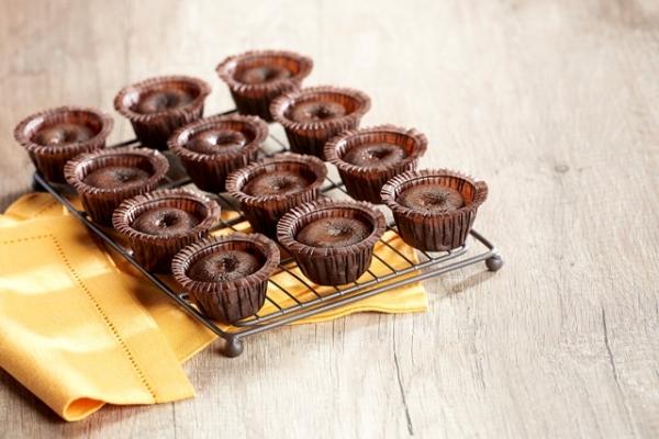 Шоколадный мини-фондан
