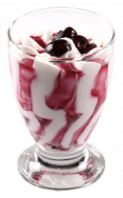 Мороженое Michielan Италия сливки-вишня, 80гр. в стеклянном стаканчике