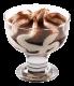 Мороженое Michielan Италия тирамису, 90гр. в стеклянном бокале